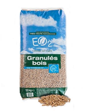 Granulés Bois Eo2 Sac 15kg Dinplus Eo2